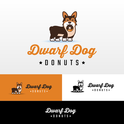 Dwarf Dog Donut Logo Design